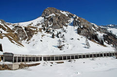 Dolomities, Dolomiti - Italy in wintertime Stock Photos