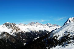 Dolomities - Italy. In wintertime Royalty Free Stock Photos