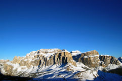 Dolomities - Italy. In wintertime Royalty Free Stock Image
