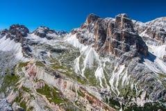 Dolomities, Tofane grupa - Rifugio Giussani obraz stock