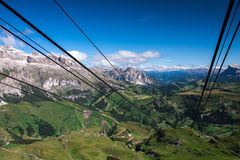 Dolomities - Piz Boe and Sella massif royalty free stock photo