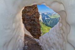Dolomities- view from Sass pordoi Stock Photo