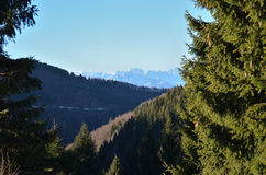 Look at the mountains, are my life. The dolomities is a wonderful place for snow Stock Photos