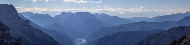 Dolomitu miasto Auronzo Zdjęcie Stock