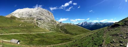 Dolomitu widok górski zdjęcie royalty free