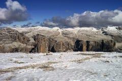 Dolomity i śnieg Obrazy Royalty Free