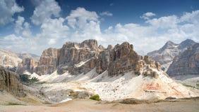 Dolomity, Lagazuio Gran Zdjęcie Royalty Free