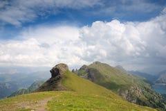 Dolomity, Sasso Di Cappello Zdjęcie Stock