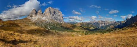 Dolomity Sassoluongo. Panorama. Sassoluongo mountain in the Dolomites Mountains in Italy Royalty Free Stock Images