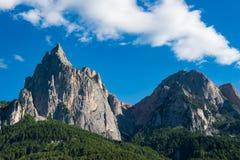 Dolomity Seiser Alm, Włochy Obraz Stock
