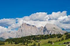 Dolomity Seiser Alm, Włochy Obrazy Stock