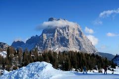 Dolomti阿尔卑斯意大利 免版税库存照片