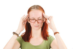 Dolor de cabeza. Imagenes de archivo