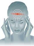 Dolor de cabeza ilustración del vector