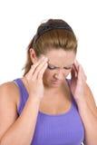 Dolor de cabeza de la jaqueca Fotos de archivo libres de regalías