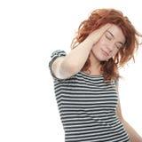 Dolor de cabeza de la jaqueca Imagen de archivo libre de regalías