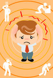 Dolor de cabeza del hombre de negocios Fotos de archivo