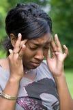 Dolor de cabeza doloroso Fotos de archivo libres de regalías