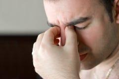 Dolor de cabeza doloroso Imagen de archivo