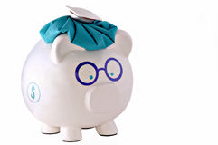 Dolor de cabeza financiero Imágenes de archivo libres de regalías