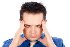 Dolor de cabeza insoportable Imagen de archivo libre de regalías