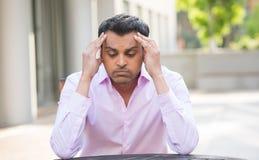 Dolor de cabeza, problemas, problemas Imagen de archivo libre de regalías
