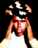 Dolor de cabeza que parte 10 Imagenes de archivo
