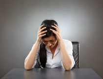 Dolor de cabeza relacionado de la tensión Foto de archivo