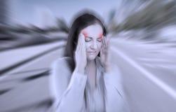Dolor de cabeza severo fotografía de archivo libre de regalías
