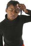 Dolor de cabeza tensionado imagen de archivo libre de regalías