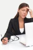 Dolor de cabeza y tensión Imagen de archivo libre de regalías