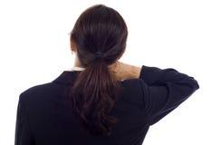Dolor de cuello Imagen de archivo libre de regalías
