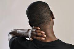 Dolor de cuello Fotos de archivo