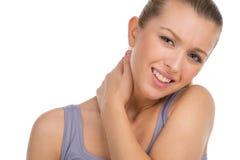 Dolor de cuello. foto de archivo libre de regalías