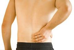 Dolor de espalda Fotografía de archivo libre de regalías