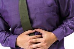 Dolor de estómago imagen de archivo libre de regalías