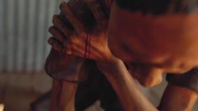 Dolor de la muerte del campo de concentración que sufre Phu Quoc almacen de metraje de vídeo