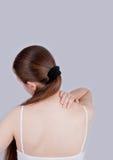 Dolor de la parte posterior y de cuello Fotos de archivo libres de regalías