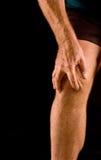 Dolor de la rodilla Fotografía de archivo libre de regalías