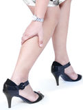 Dolor de pierna Imagen de archivo