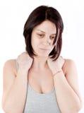 Dolor del cuello Foto de archivo libre de regalías