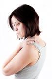 Dolor del cuello Fotografía de archivo libre de regalías