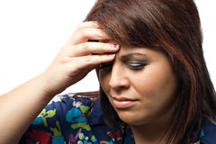 Dolor del dolor de cabeza Fotografía de archivo