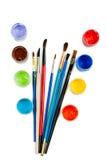 Dolor del Watercolour en tarros Foto de archivo libre de regalías
