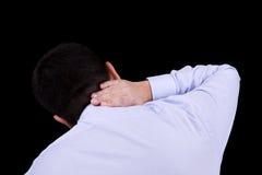 Dolor en el cuello Imagen de archivo libre de regalías
