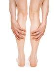 Dolor en las piernas Imagen de archivo