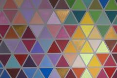 Dolor formado abstracto geométrico creativo colorido de la pared interior Fotografía de archivo libre de regalías