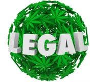 Dolor legal R de la prescripción del uso médico de la esfera de la bola de la hoja de la marijuana Libre Illustration
