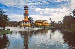 Dolor Royal Palace, palacio de verano, Ayuttaya, Tailandia de la explosión Imagenes de archivo