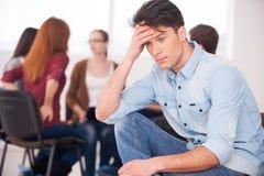 Dolor y depresión de la sensación. Imagenes de archivo